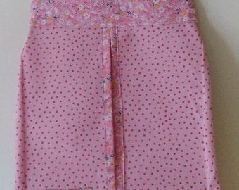 Pink nappy holder