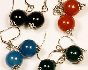 Agate Stone Dangling Earrings