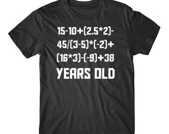 60 Years Old Algebra Equation Funny 60th Birthday Math Shirt