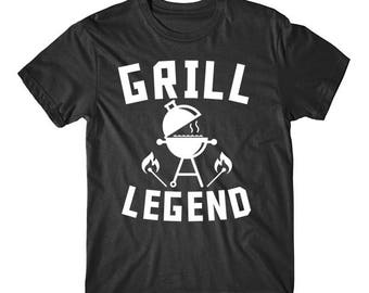 Grill Legend BBQ Charcoal Barbeque Funny Grilling T-Shirt