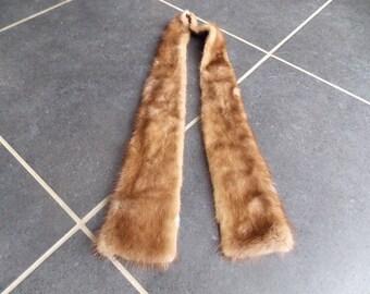 Vintage French Mink Fur Scarf / Collar fashion France