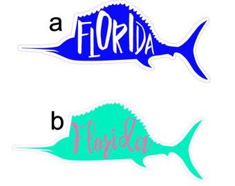 Sailfish Decal - Florida Decal - Laptop Decal - Wall Decal - Car Decal - Florida Car Decal