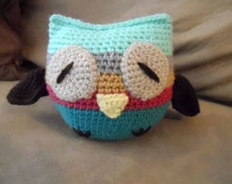 Amigurumi Crochet Toy - Sleepy Owl