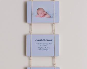 "Birth Announcement Photoblocks 7x5"""