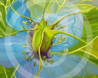 Nigella, Nigella, print on canvas, 80 x 100 cm