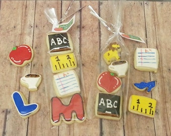Teacher Cookies 1 Package - Teacher Cookies - Teacher Gift - Teacher Appreciation - Decorated Cookies - Teacher Gift - Packaged Cookies
