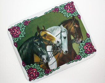 Four Horses Mouse Pad