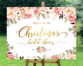 Bridal shower, Bridal Shower Welcome Sign, Bridal Shower sign, Bridal Shower decoration, welcome wedding sign - US_BSb4