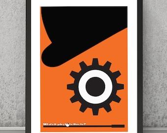 A clockwork orange print, Kubrick movie print, film print, film poster, Stanley Kubrick print, A Clockwork orange inspired print