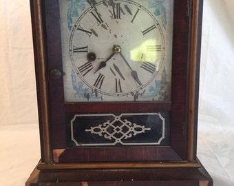 Waterbury Shelf Clock, Authentic Waterbury Clock, 1900's Collectible Clock , American Wall Clock, Waterbury Clock Company, Shelf Clock