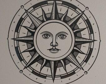 Sun - vinyl - wall decal