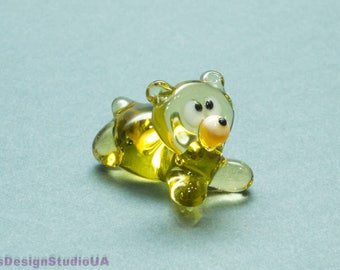 Glass bear figurine Glass animals Blown Glass figurines Glass sculpture Murano glass lampwork Gift for her gift for mom