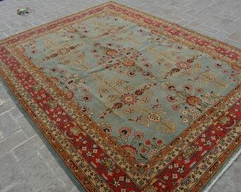 9'6 x 7'2 FT Handmade Tribal area rug, 100% Wool