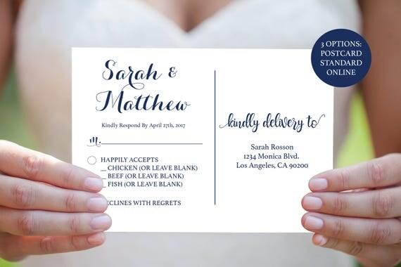 rsvp wedding postcards template