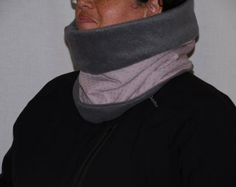 Fleece and cotton reversible Snood with stars
