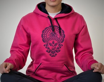 Women hoodies with Indian pattern
