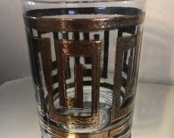 22k gold vintage RARE culver Greek key glasses