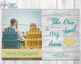 I Found the One My Soul Loves Engagement Announcement