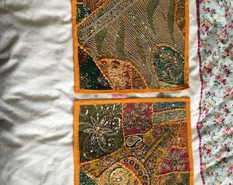 Jewelled cushion covers