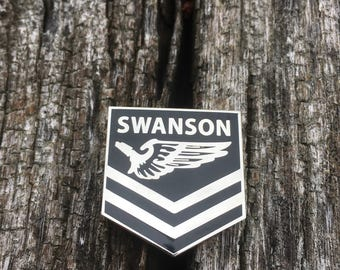 Ron Swanson pin, parks and recreation pin, Be a Swanson pin, camping
