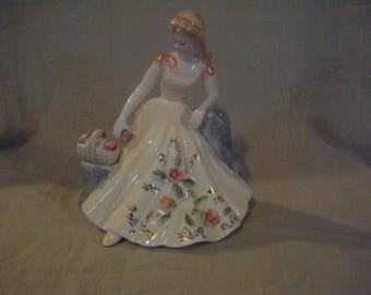 HOLD FOR JOY W....Vintage Josef Original...Girl with basket of apples