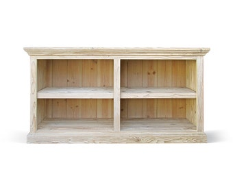 Bookcase, Console Cabinet, Reclaimed Wood, Console Table, Handmade, Rustic, Farmhouse