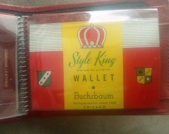 Red Leather Wallet--Vintage, But New!