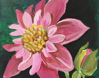 "6"" x 6"" Brilliant Painted Floral"
