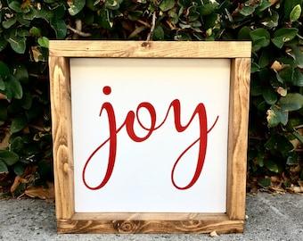 Joy Christmas Sign | Christmas Wood Sign | Christmas Decor | Holiday Decor | Rustic Christmas Decor | Farmhouse Decor | Wood Sign