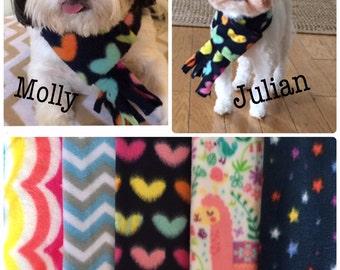 Fleece scarves for pets