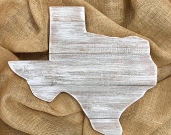 Small Texas Sign- whitewashed