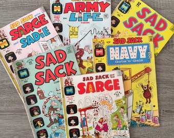 Vintage Sad Sack Comics (All 6)
