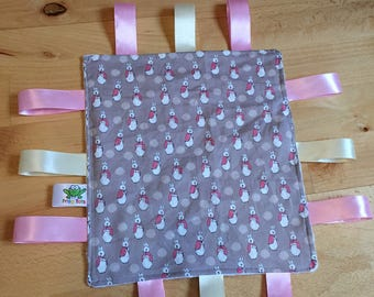 Peter Rabbit, Flopsy Bunny, Taggy Blanket, Sensory comforter, Comfort blanket, Snuggle blanket, new baby gift, baby shower, Taggie Blanket
