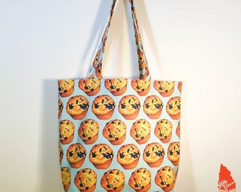 Blueberry Muffin Pattern Tote Bag