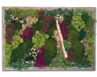 "Moss WallScape in 24""x36"" Frame"