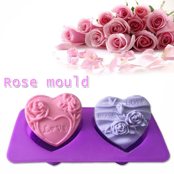 Rose Flower Shape Silicone Cake Soap Decorating Kitchen Mold Baking Accessories From
