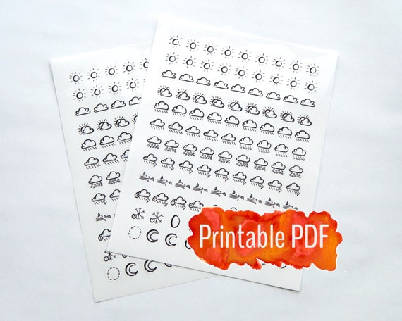 Nerdy image within bullet journal symbols printable