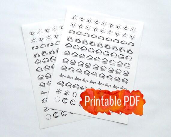 Genius image with bullet journal symbols printable