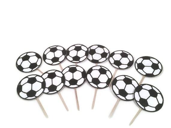 football soccer birthday party cake picks black themesoccer theme partysoccer soccer cake from