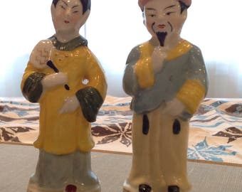 Japanese man and woman geisha figurine - great condition.