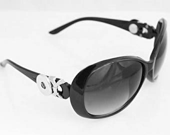 Snap Button Sunglasses Black Gingersnap