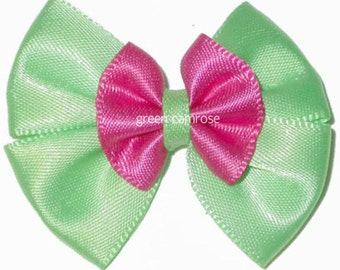 Satin Ribbon Double Bows set of 2 color as pictured