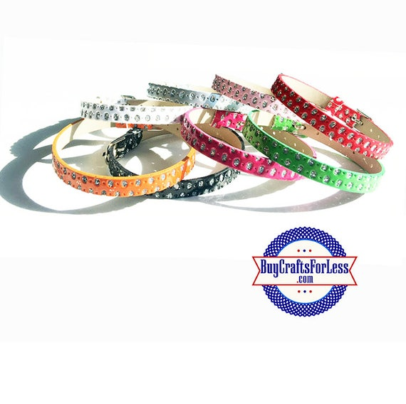 Rhinestone Look BRACELET for Slider Letters and SLIDE Charms +FREE Shipping & Discounts*