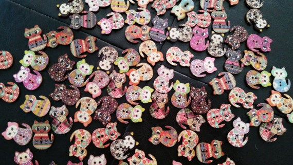 Button Magnets - Cats