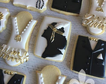 1 Dozen Roaring 20's Decorated Cookies