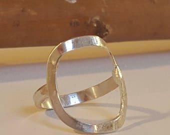 Silver minimal ring