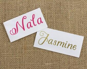 Custom Name Decal - Vinyl Stickers, Personalized Sticker, Hopeless Romantic Script