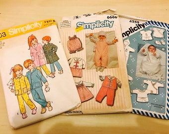 Children and baby pyjamas sewing pattern