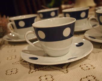 Vintage Polka Dot Tea Set