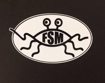 Flying Speghetti Monster Sticker